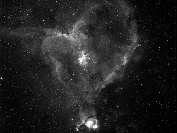 Nébuleuse du Coeur - AstroQueyras - Flat field camera 180 / 760