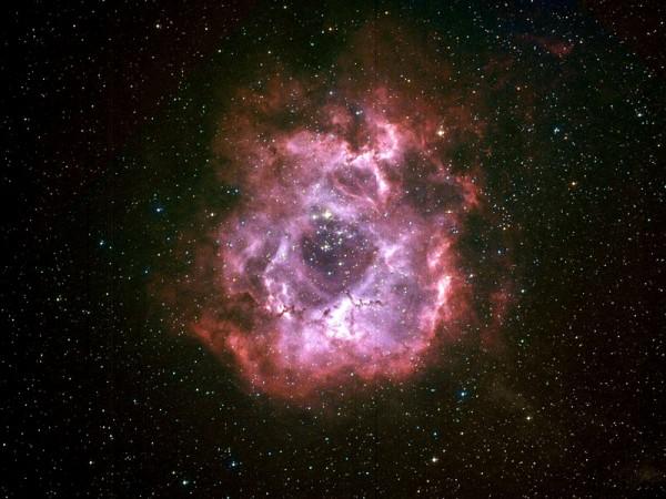 Nébuleuse de la Rosette - AstroQueyras - Flat field camera 180 / 760
