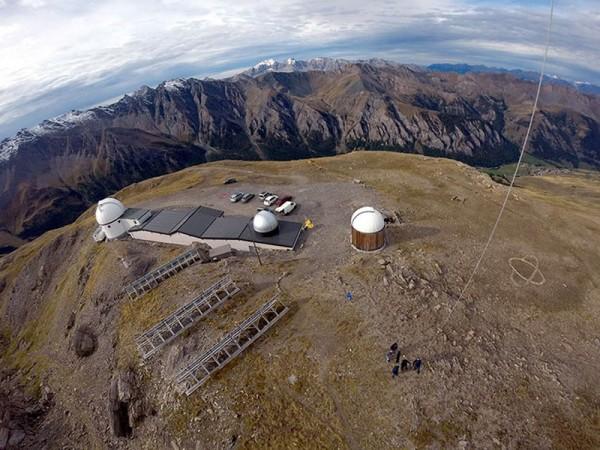 L'observatoire vu d'un cerf-volant