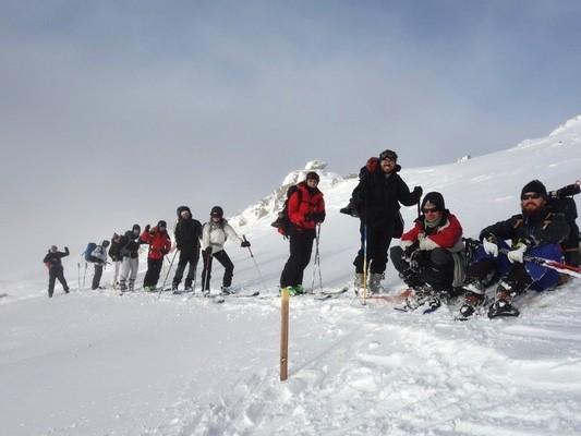 Montée à skis de randonnée