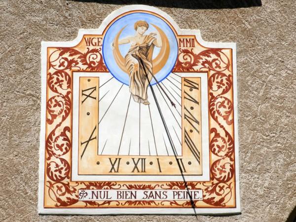 Un des 30 cadrans solaires de Saint-Véran