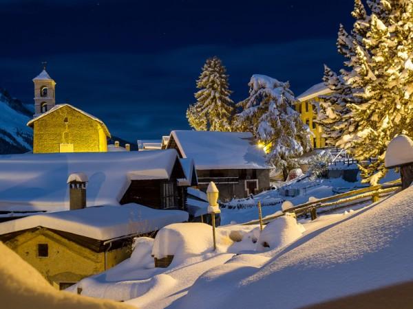 La nuit en hiver